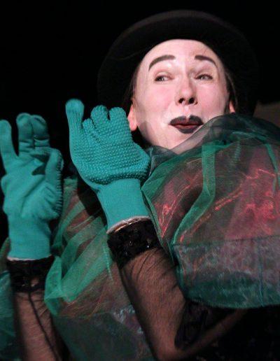 Foto von Angelika Neumann als Zirkusclown